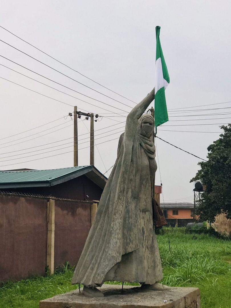 PHOTOS: UNIBEN student creates life-size statue to honour BBOG campaigner, Aisha Yesufu