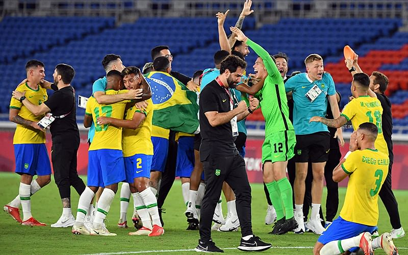 Defending Olympic champions Brazil beat Spain to win football gold