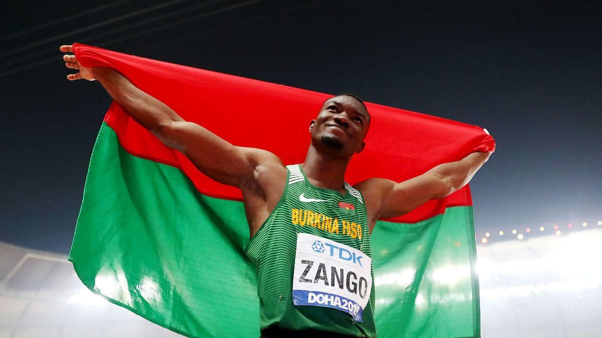 Triple jumper Hugues Fabrice Zango wins Burkina Faso's first-ever Olympic medal