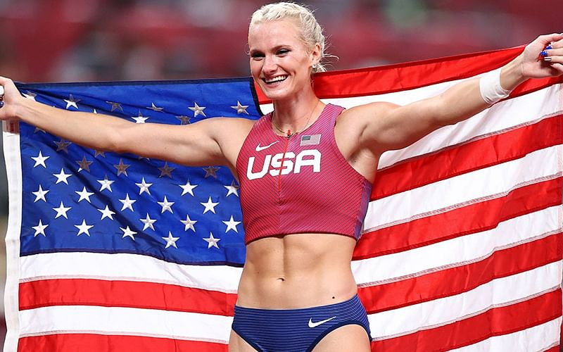 USA's Nageotte wins gold in women's Olympic pole vault