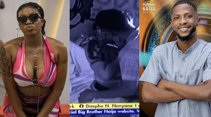 BBNaija: New housemate Kayvee, Angel, share kiss on first night