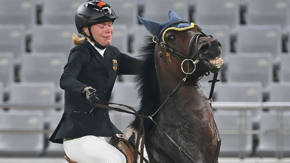 Tokyo 2020: German coach kicked out of Olympics for punching horse
