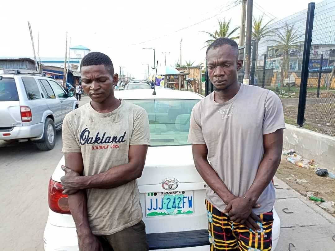 One Chance: Police nab two suspects in Lekki, recover stolen car
