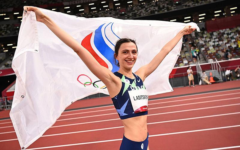 World champion Lasitskene wins women's Olympic high jump gold