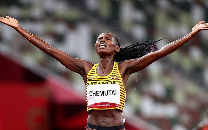 Olympics: Uganda's Peruth Chemutai wins women's 3000m steeplechase gold