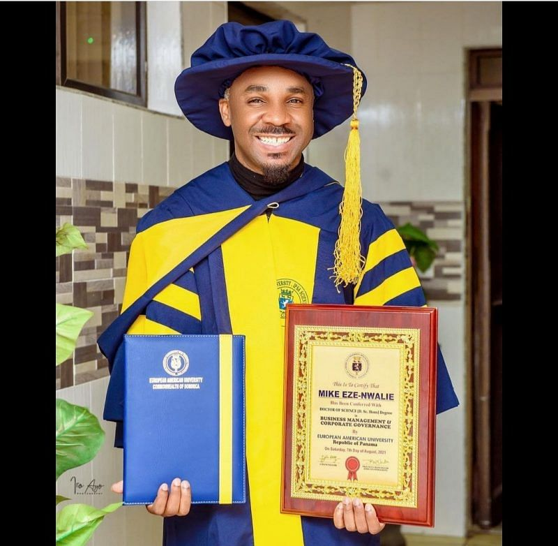 PHOTOS: Socialite, Pretty Mike, bags PhD in Business Management