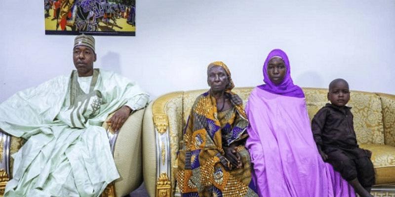 Gov Zulum reunites Chibok girl with family