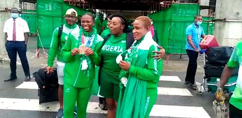 Olympics: Team Nigeria return from Tokyo