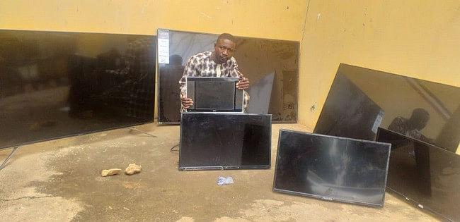 NSCDC arrests Niger Varsity graduate for stealing two Plasma TVs