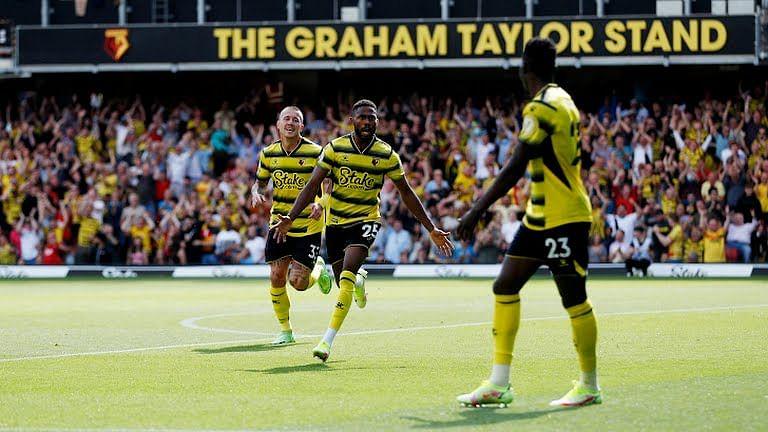 Nigeria's Emmanuel Dennis scores on Watford debut