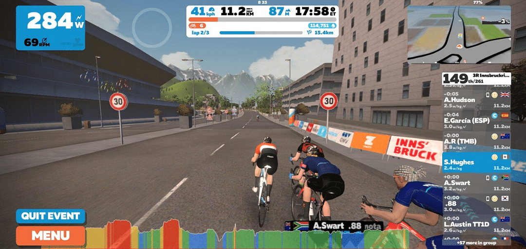 Zwift is virtual training for running and cycling
