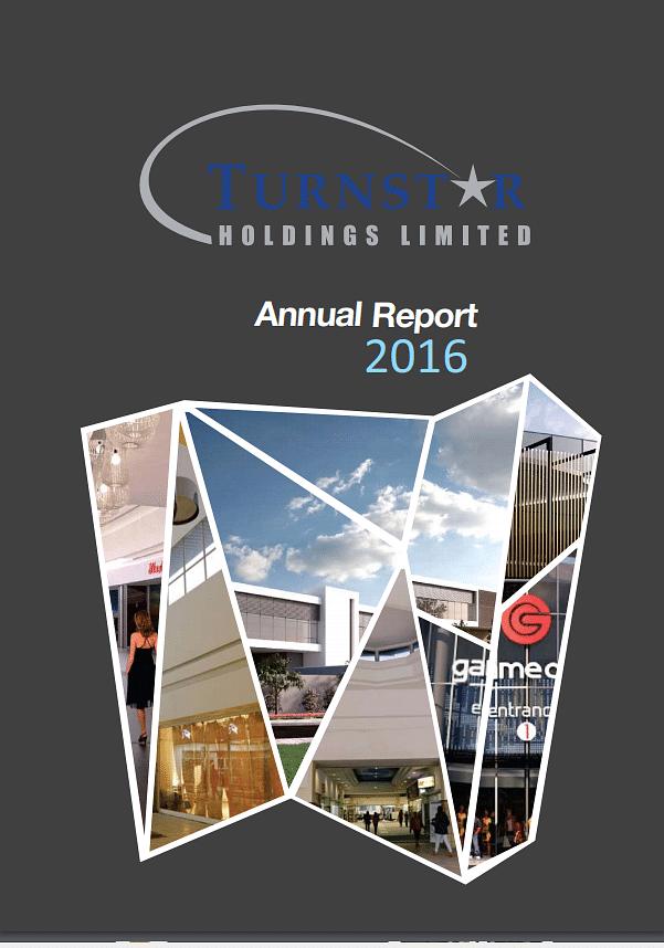 Turnstar Annual Report 2016 cover