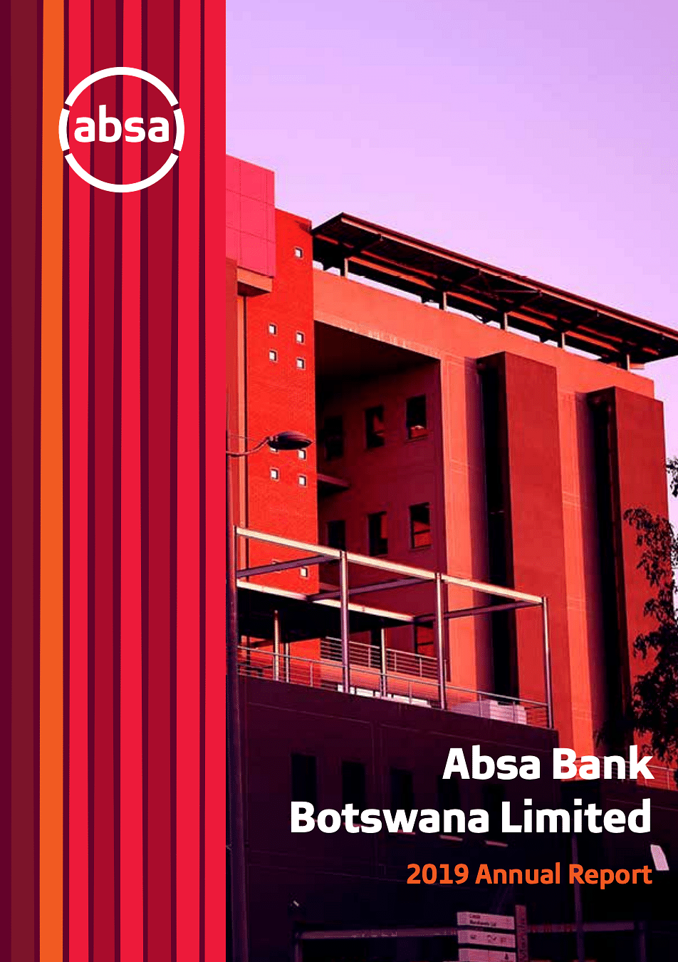 Absa Bank Botswana Annual Report 2019 cover