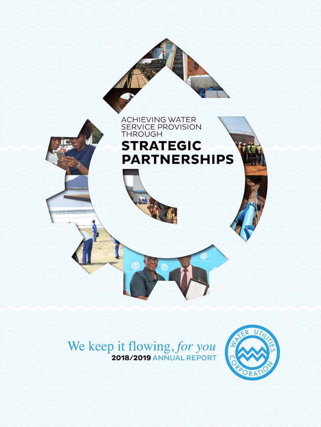 Water Utilities Annual Report 2019 cover