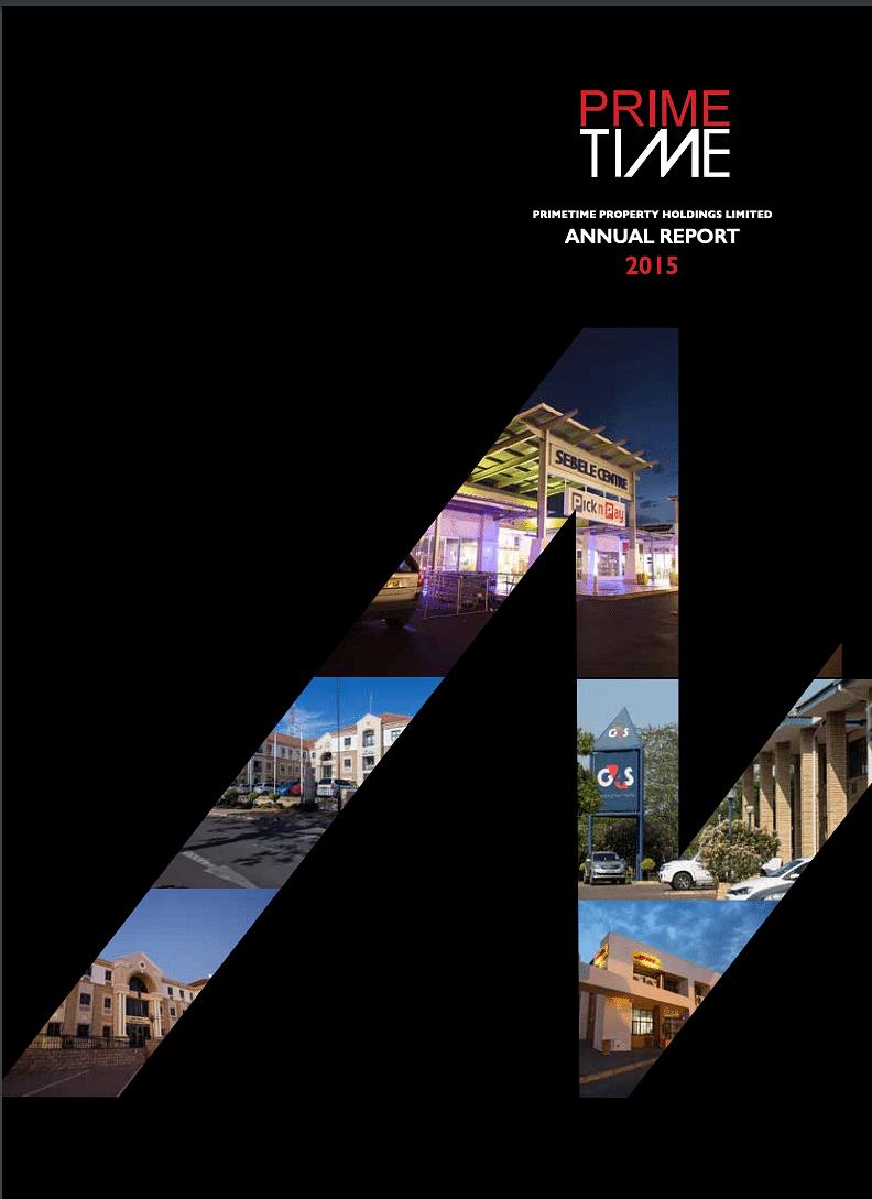 PrimeTime Annual Report 2015 cover