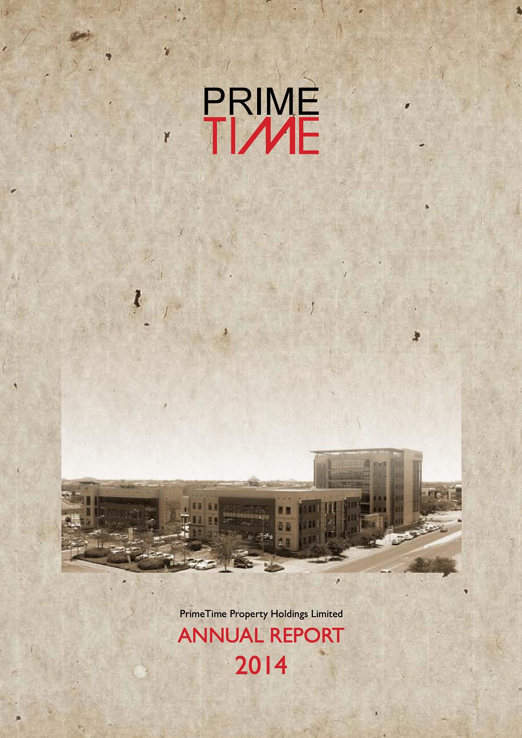PrimeTime Annual Report 2014 cover