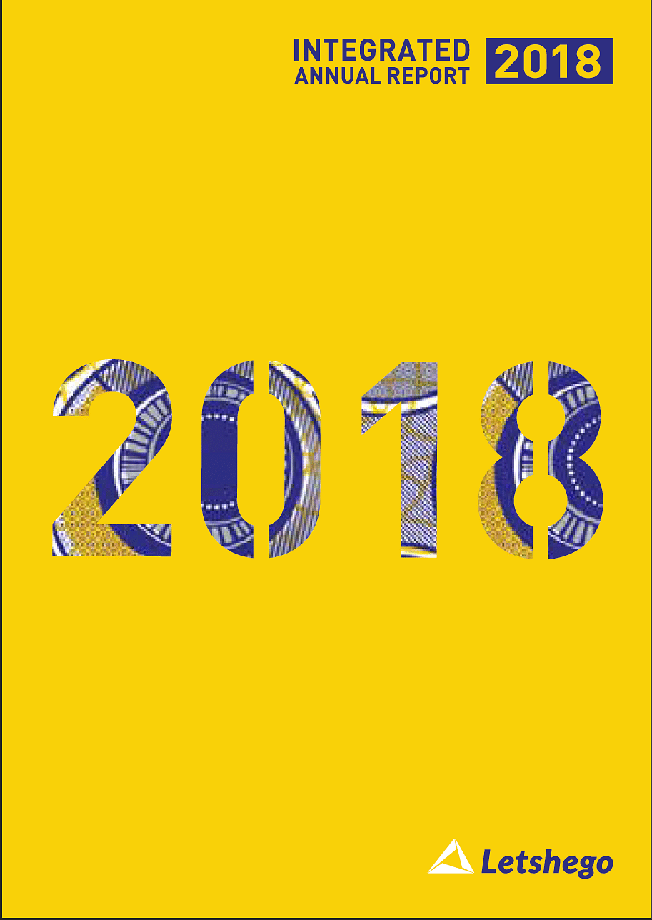Letshego Group Annual Report 2018 cover