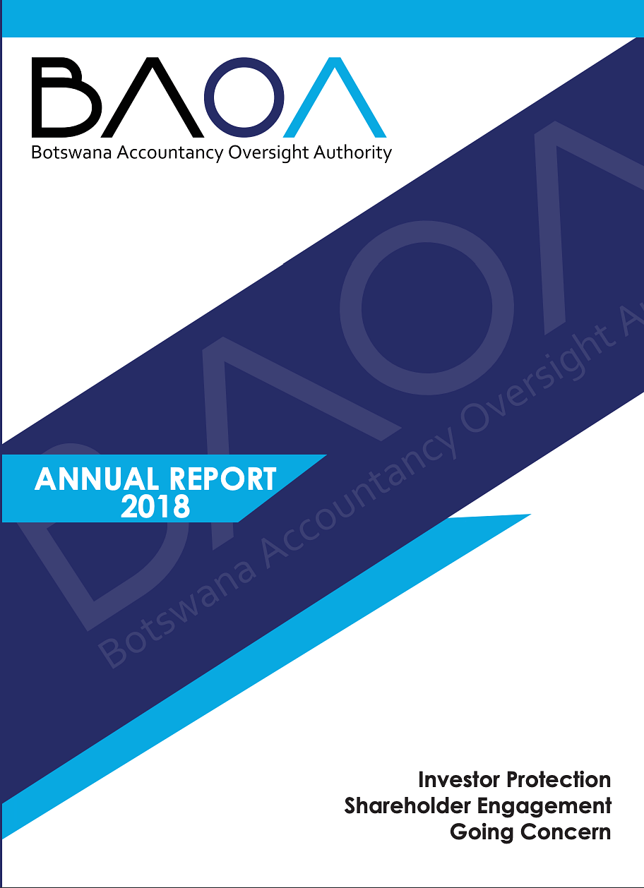 Botswana Accountancy Oversight Authority Annual Report 2018 cover