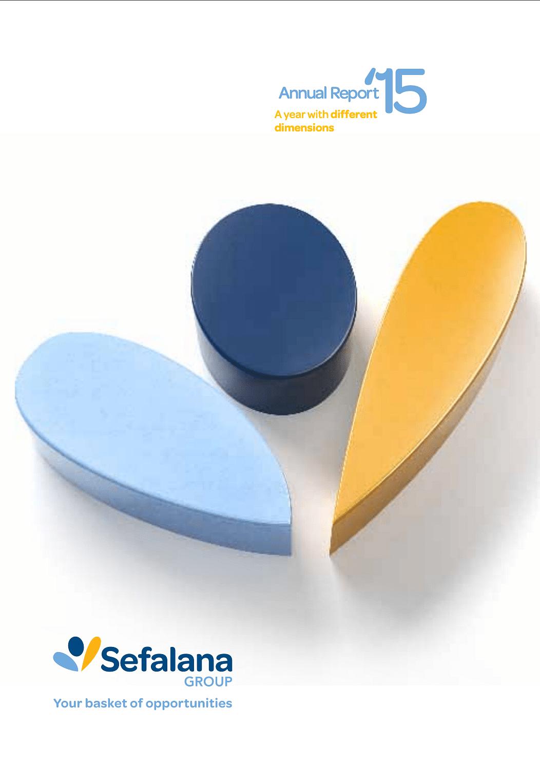 Sefalana Annual Report 2015 cover