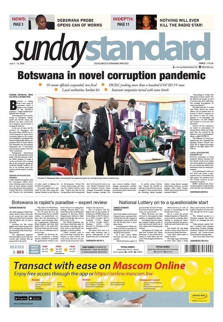 Sunday Standard 7.6.2020