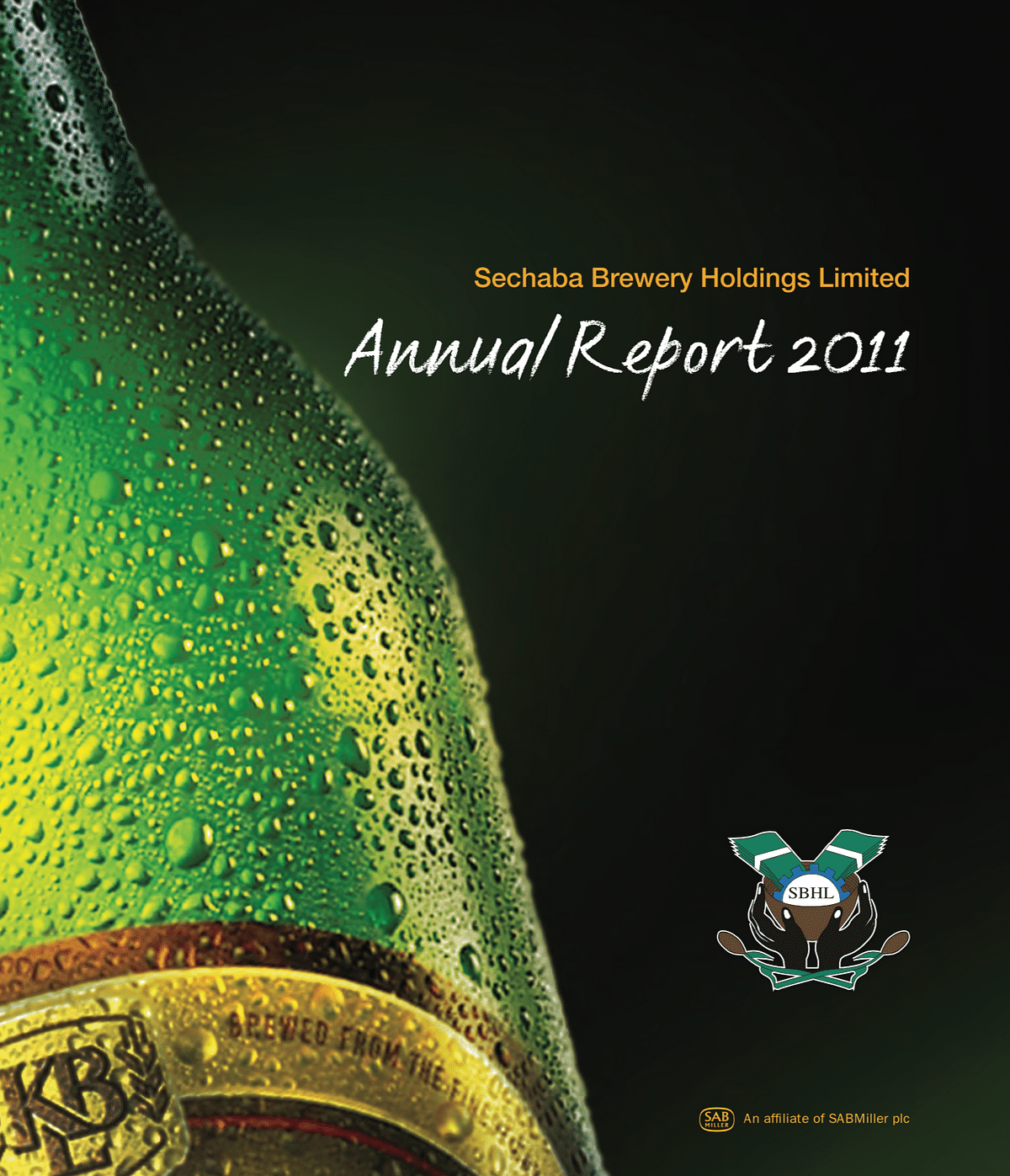 Sechaba Breweries Holdings Limited Annual Report 2011 cover