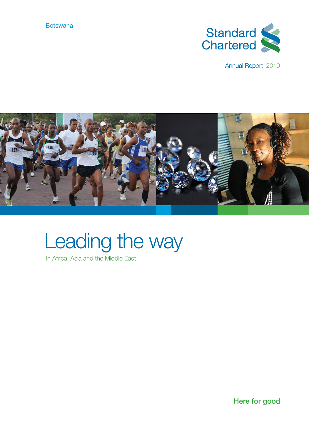 Standard Chartered Bank Botswana Annual Report 2010 cover
