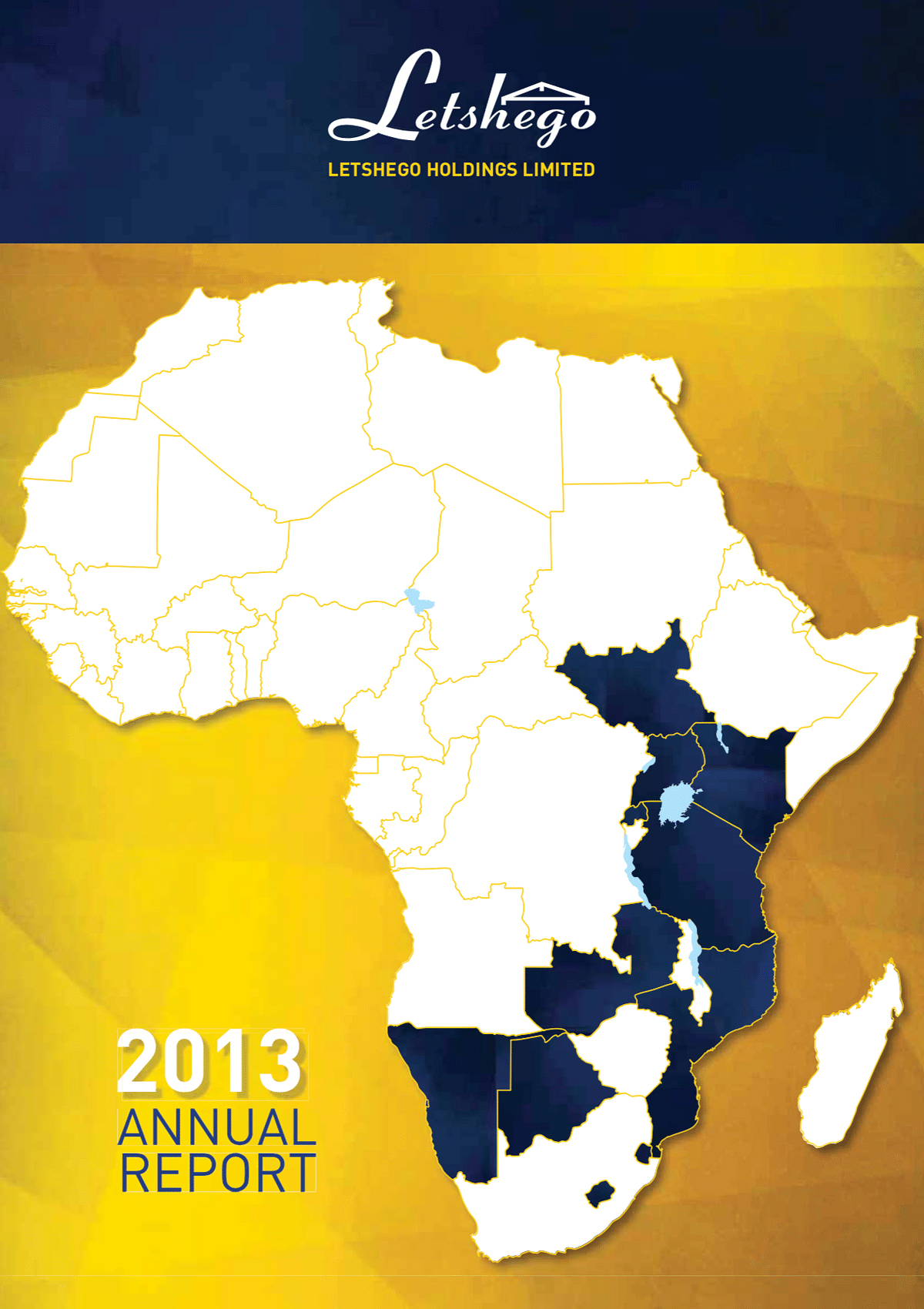 Letshego Group Annual Report 2013 cover