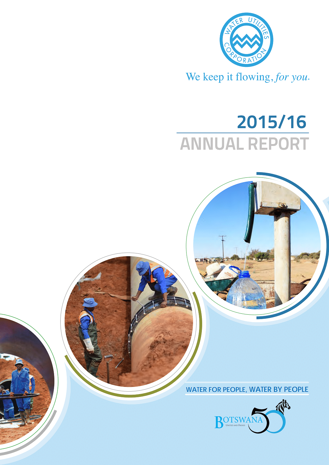 Water Utilities Annual Report 2016 cover