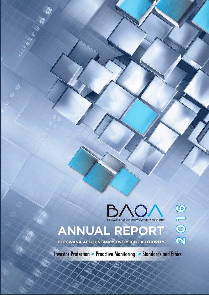 Botswana Accountancy Oversight Authority Annual Report 2016 cover