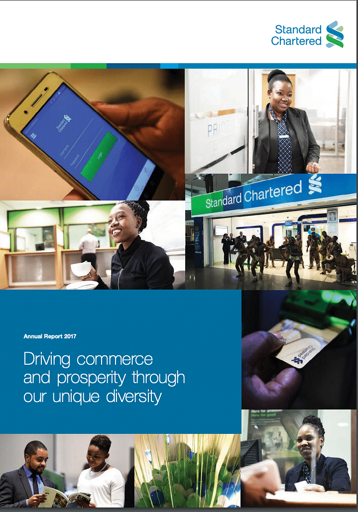 Standard Chartered Bank Botswana Annual Report 2017 cover