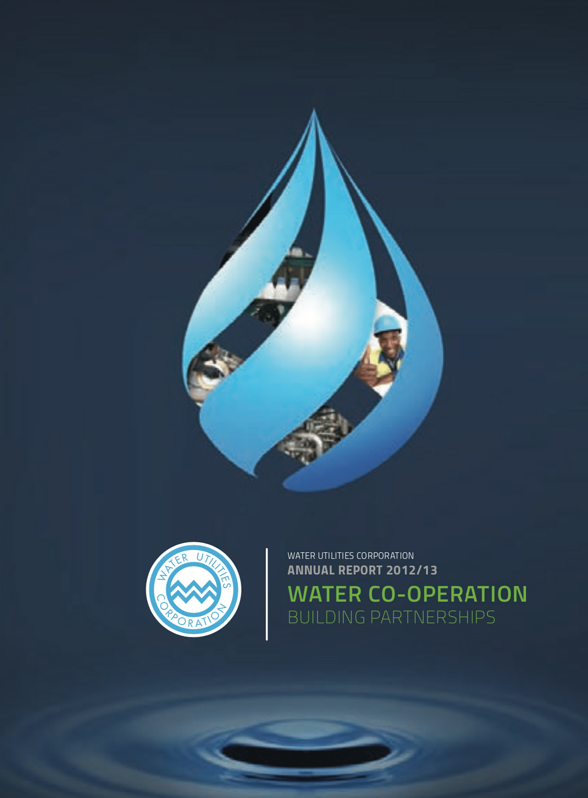 Water Utilities Annual Report 2013 cover
