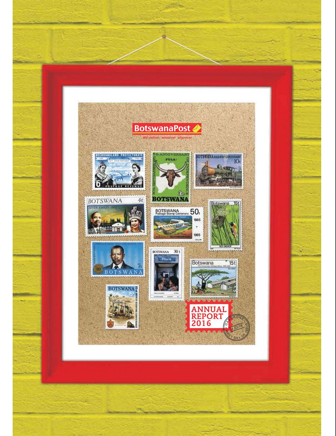 BotswanaPost Annual Report 2016 cover