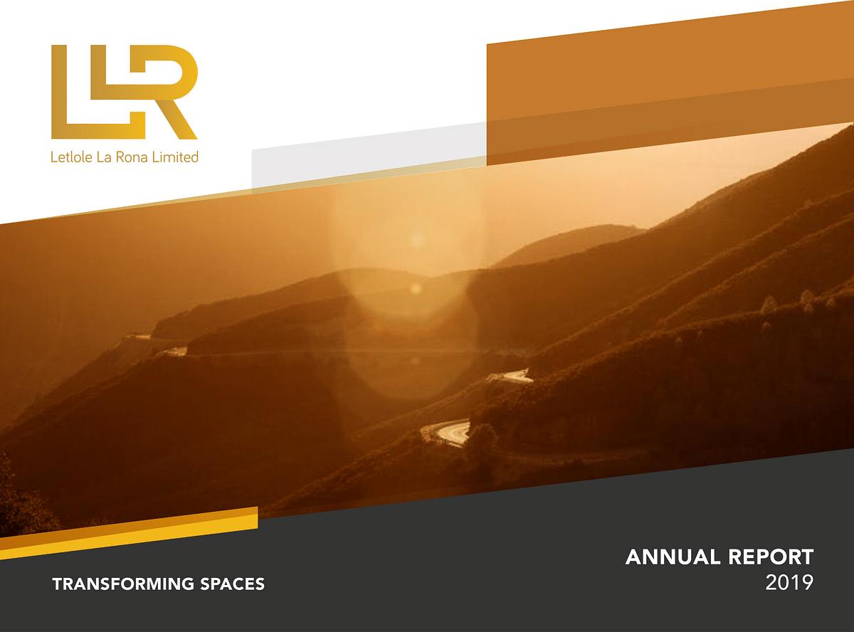 Letlole La Rona Annual Report 2019 cover