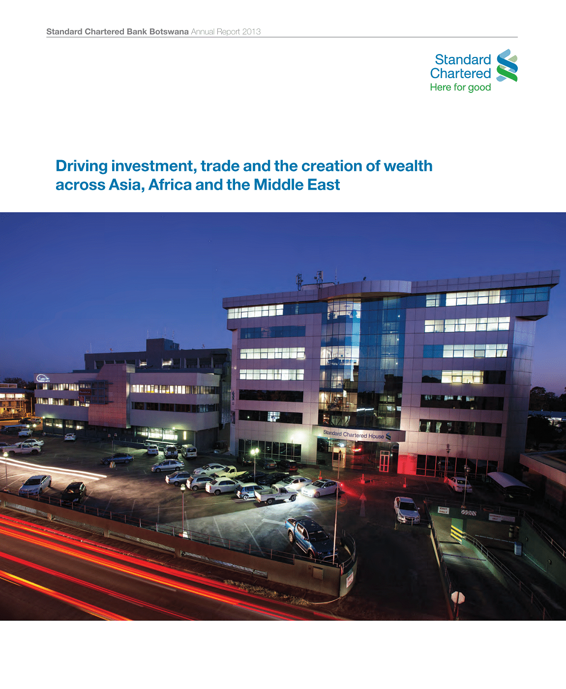 Standard Chartered Bank Botswana Annual Report 2012 cover