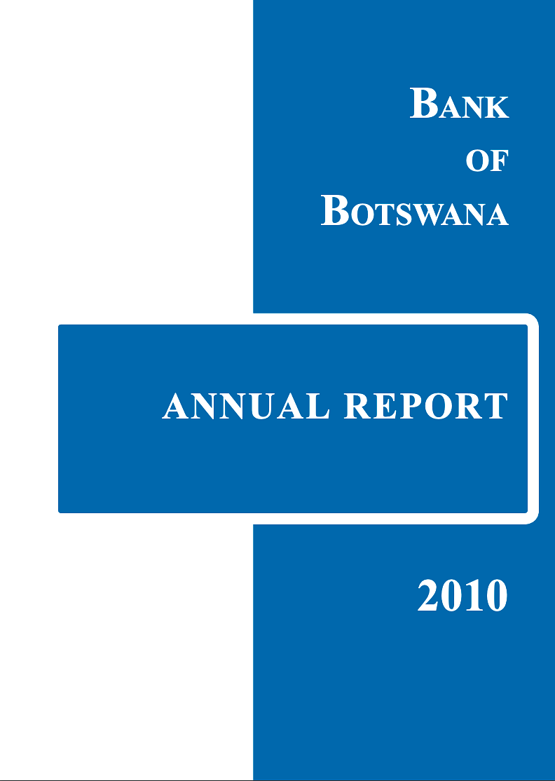 Bank of Botswana Annual Report 2010 cover