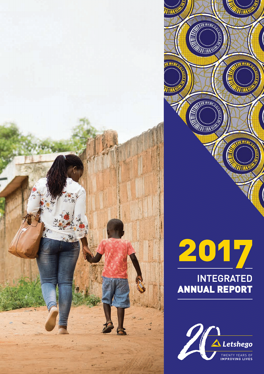 Letshego Group Annual Report 2017 cover