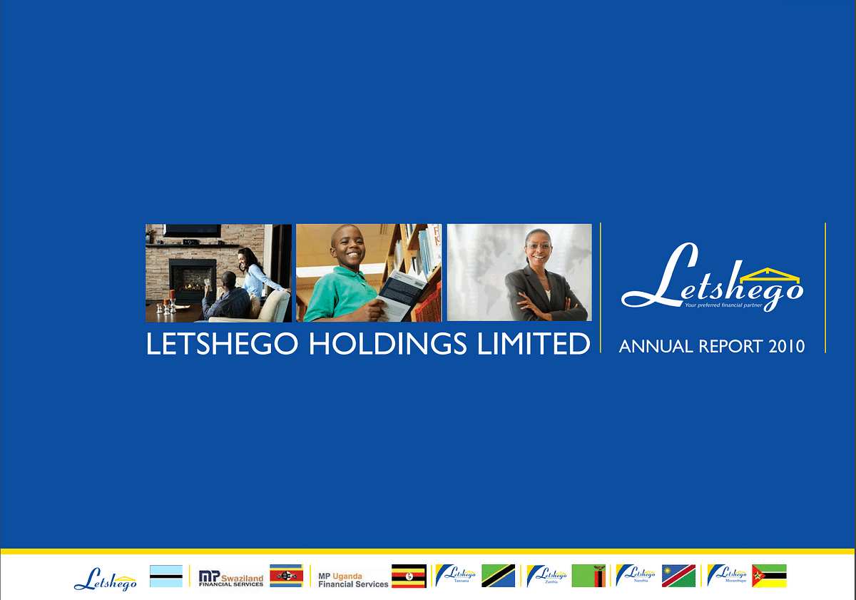 Letshego Group Annual Report 2010 cover