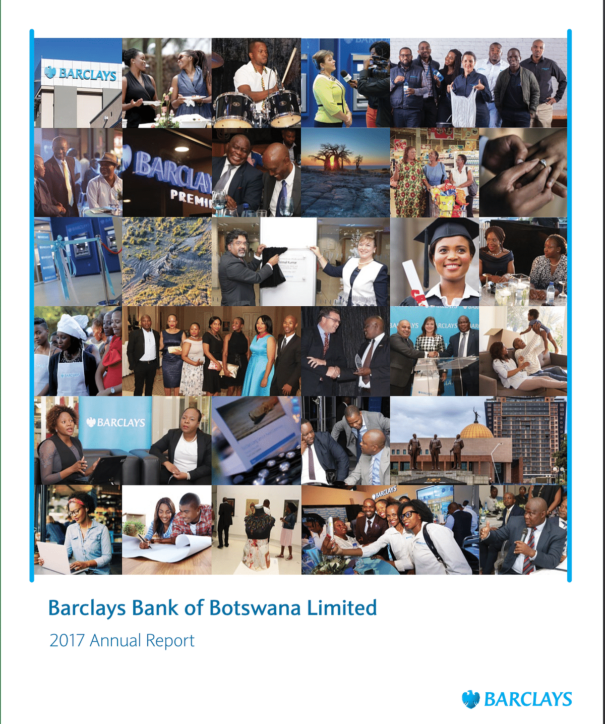 Barclays Bank of Botswana Annual Report 2017 cover