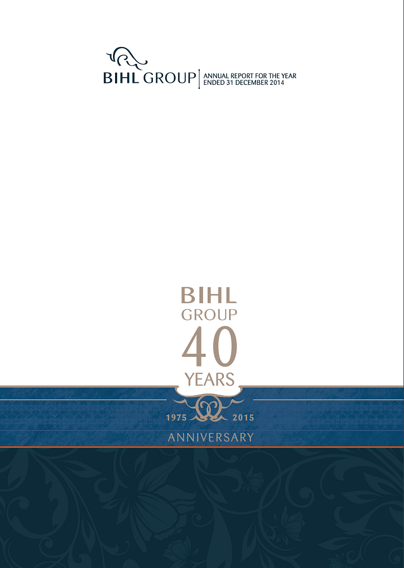 The BIHL Group Annual Report 2014 cover