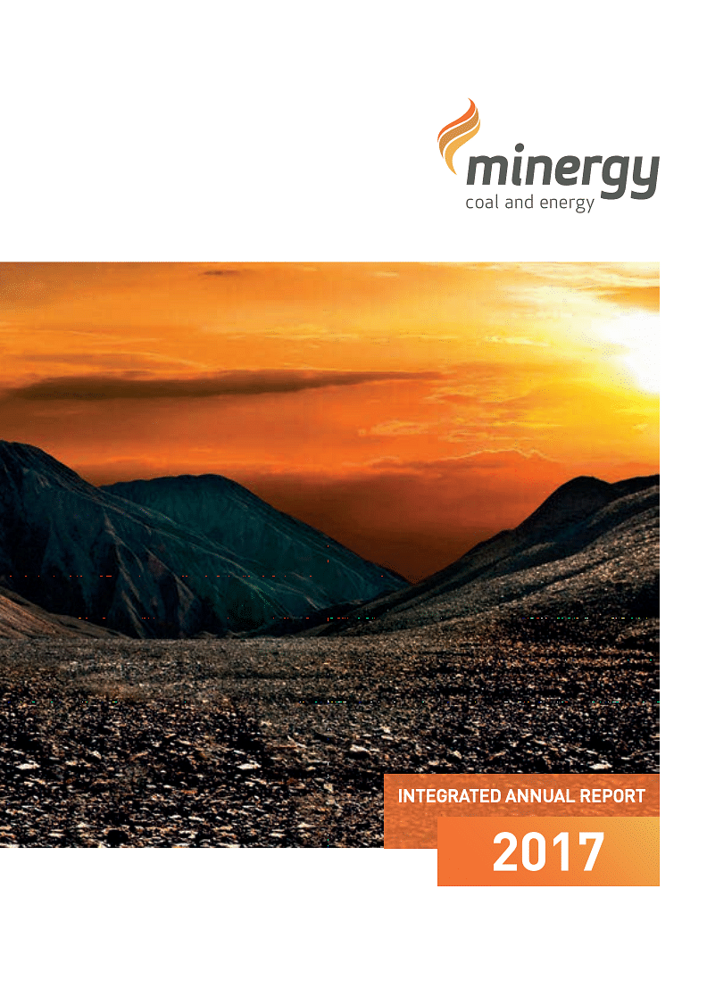 Minergy Limited Annual Report 2017 cover