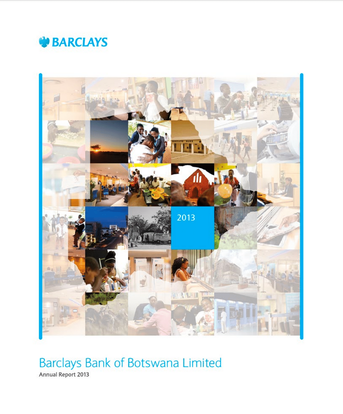 Barclays Bank of Botswana Annual Report 2013 cover