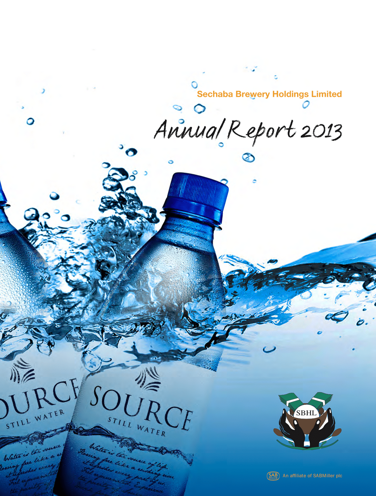 Sechaba Breweries Holdings Limited Annual Report 2013 cover