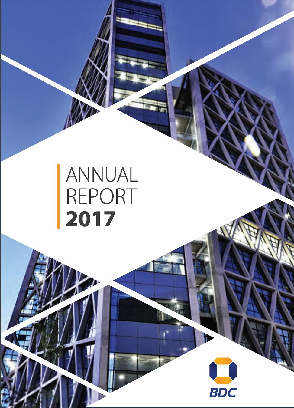 BDC Annual Report 2017 cover