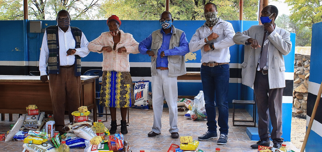 Valued at over P70 000, the first delivery of essential supplies took place on the 18th May, followed by additional handovers to a very grateful Kgosi Dingalo, Kgosi Mmutla and Mr Sajaba, Village Development (VDC) chairman, on 5 and 10 June respectively.