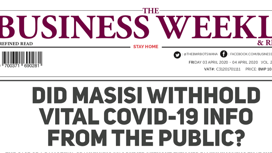 The Business Weekly & Review 3 April 2020