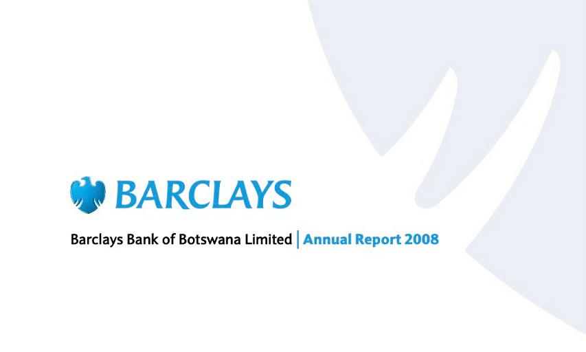 Barclays Bank of Botswana Annual Report 2008