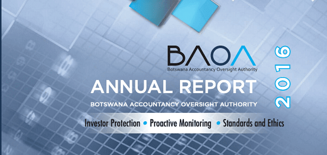Botswana Accountancy Oversight Authority Annual Report 2016