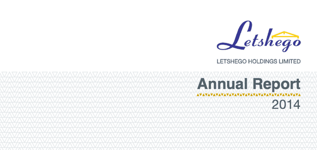 Letshego Group Annual Report 2014