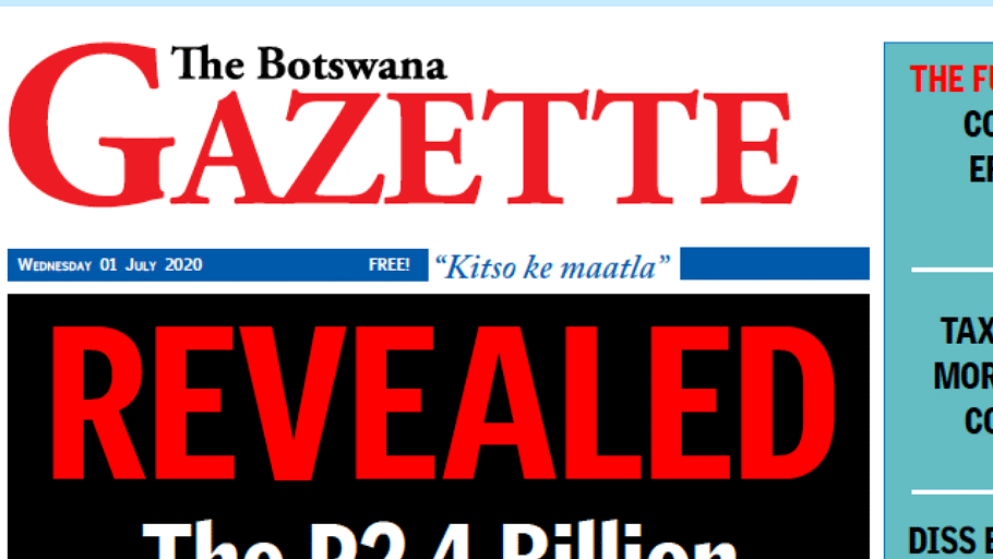 The Botswana Gazette 1 July 2020