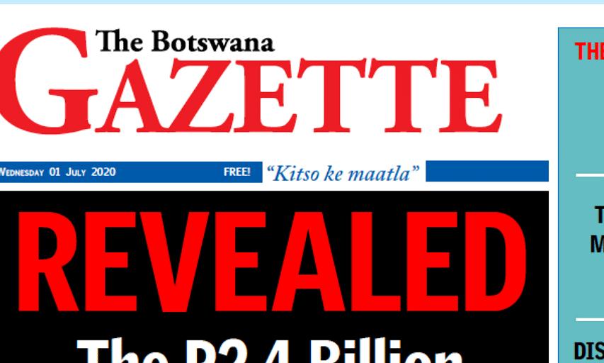 The Botswana Gazette 1 July 2020